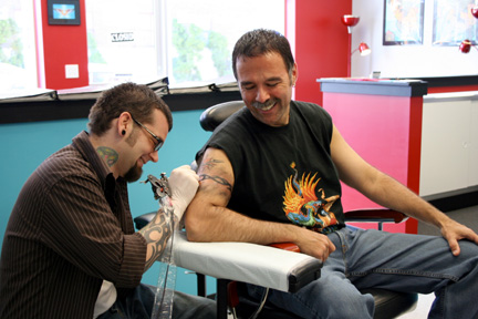 Vince Condella visits Custom Tattoo in Milwaukee.