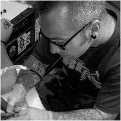 Troy Garris, tattoo artist at Custom Tattoo, Milwaukee